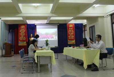 Công đoàn cơ sở Thư viện Trung tâm tổ chức Hội nghị Sơ kết giữa nhiệm kỳ