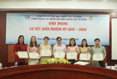 Công đoàn Cơ quan ĐHQG-HCM tổ chức Hội nghị Sơ kết giữa nhiệm kỳ 2017-2022
