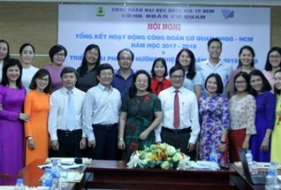Công đoàn cơ quan ĐHQG-HCM: Hội nghị tổng kết hoạt động năm học 2017-2018