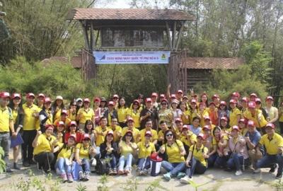 Công đoàn Cơ quan ĐHQG-HCM tham quan Làng tre Phú An