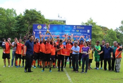 Bế mạc giải bóng đá Công đoàn Trường năm 2019
