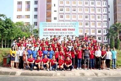Chào mừng ngày Nhà giáo Việt Nam 20/11 công đoàn trường Đại học Quốc tế tổ chức hội thao CBVC năm 2019