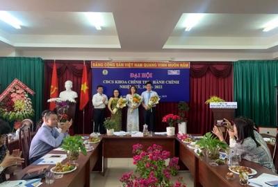 Khoa Chính trị - Hành chính tổ chức đại hội công đoàn cơ sở nhiệm kỳ 2019 -2022