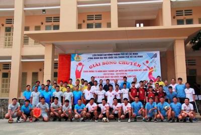 Công đoàn Trung tâm Giáo dục Quốc phòng và An ninh vô địch giải Bóng chuyền ĐHQG-HCM