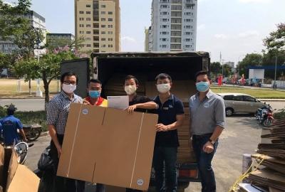 Nhiều tổ chức, cá nhân ủng hộ công tác chống dịch COVID-19 tại KTX ĐHQG-HCM