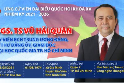 Các ứng cử viên ĐHQG-HCM tham gia ứng cử đại biểu Quốc hội khóa XV, đại biểu HĐND TP.Hồ Chí Minh và đại biểu HĐND TP.Thủ Đức